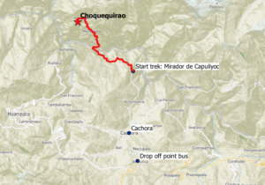 Transport to Choquequirao